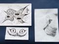 Ernesto Pateckio (2c kl.) piešinių paroda VIENO PIEŠINIO EVOLIUCIJA