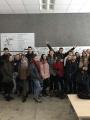 1b klasės mokiniai VGTU Statybos fakultete